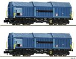 Fleischmann 837926 N Gauge Raillogix Telescopic Hood Wagon Set (2)